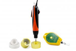 Elektrický zavírač (utahovák) šroubovacích víček a uzávěrů 2,5Nm 36W + Adaptéry 5-50mm