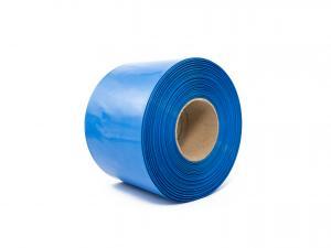Modrá smrštovací PVC fólie 2:1 šíře 130mm, průměr 80mm