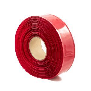 Červená smrštovací PVC fólie 2:1 šíře 65mm, průměr 40mm