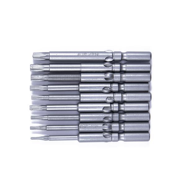 Set 9ks bitů HIOS H5(∅5) Torx bitů T5-T25 - 60mm