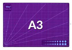 Řezná pracovní oboustranná podložka fialová A3 45x30cm