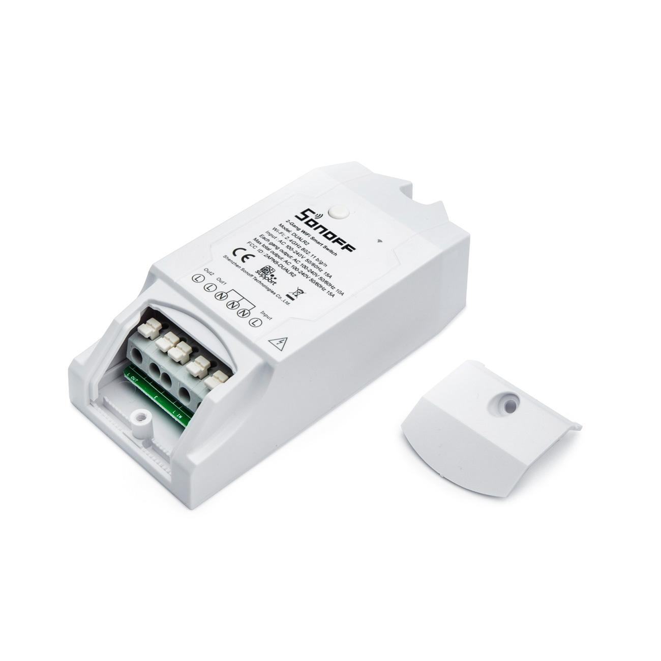 Sonoff Dual Channel DIY WIFI dvoukanalový programovatelný modul 15A/230V
