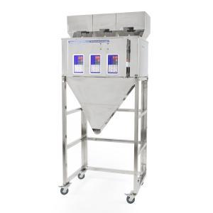 Výrobek: Trojitý průmyslový dávkovač sypkých materiálů a směsí 3x 10-500g