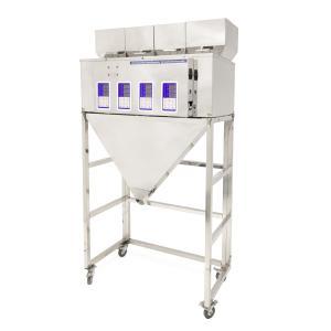 Čtyřhlavý průmyslový dávkovač sypkých materiálů a směsí 4x 10-500g