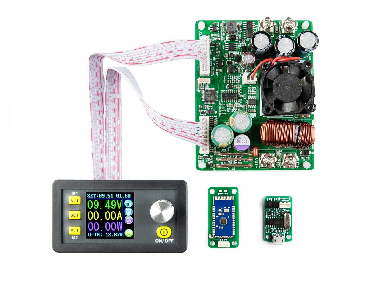 Modul regulovatelného zdroje DPS5015 0-50V 0-15A s USB a BT komunikací