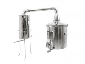 Destilační přístroj pro destilaci vody, kvasu a esenciálních olejů 80L