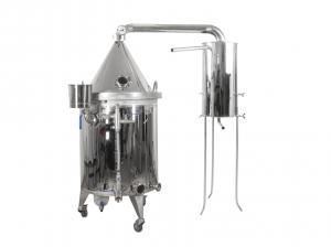 Destilační kolona pro destilaci vody, kvasu a esenciálních olejů 100L s elektrickým ohřevem
