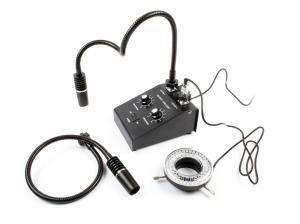 Profesionální osvit pro mikroskopy 3in1 s kruhovým světlem 6W 6500K