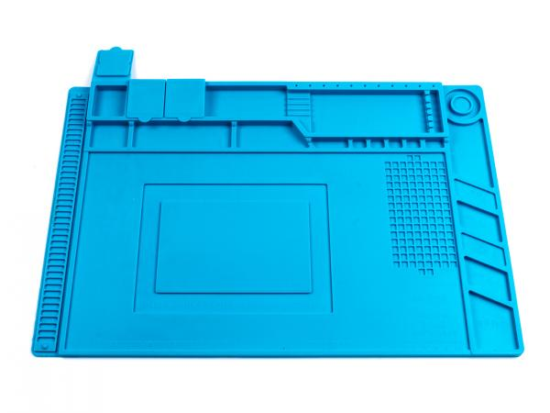 Velká silikonová podložka 455x300mm s organizérem pro servis a opravy mobilních telefonů, tabletů