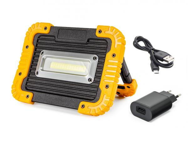 Přenosný pracovní LED reflektor 750L 10W s powerbankou