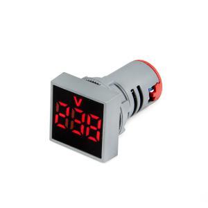Výrobek: Panelový Voltmetr AC 24-500V pro vestavbu 22mm čtvercový