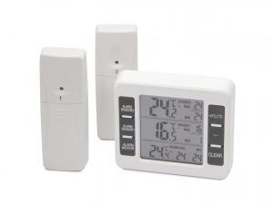 Digitální teploměr s alarmem a dvěma bezdrátovými čidly - 40°C až 60°C