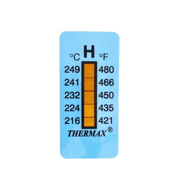 Samolepící teploměr / indikační proužek nereversibilní 216-249°C