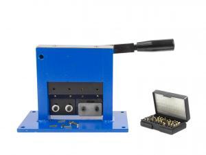 Stolní páková uzavíračka hliníkových tub s razící číselnou sadou