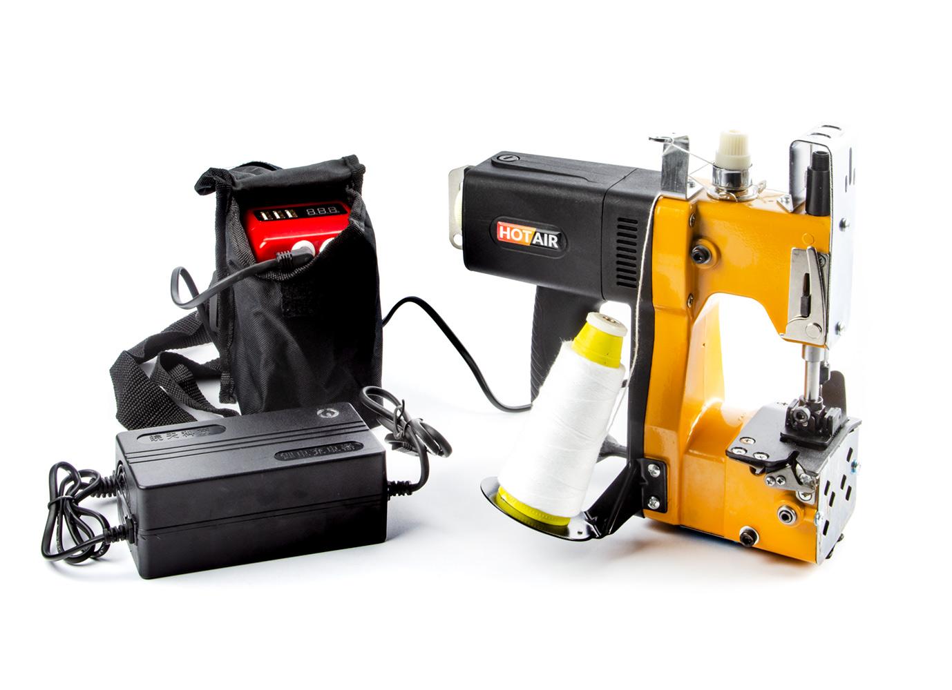 Přenosný pytlovací šicí stroj GK9-350B s akumulátorem pro uzavírání pytlů