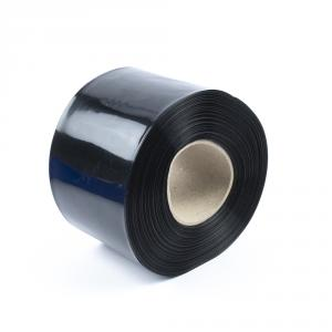 Černá smršťovací PVC fólie 2:1 šíře 100mm, průměr 61mm