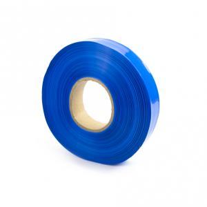 Modrá smršťovací PVC fólie šíře 30mm, průměr 18mm