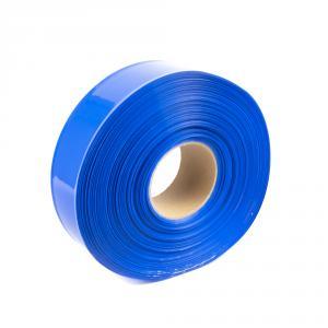 Modrá smršťovací PVC fólie šíře 50mm, průměr 30mm