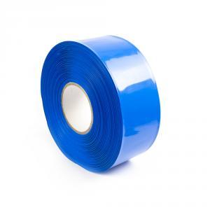 Modrá smršťovací PVC fólie 2:1 šíře 70mm, průměr 43mm
