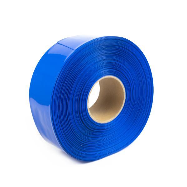 Modrá smršťovací PVC fólie 2:1 šíře 80mm, průměr 49mm