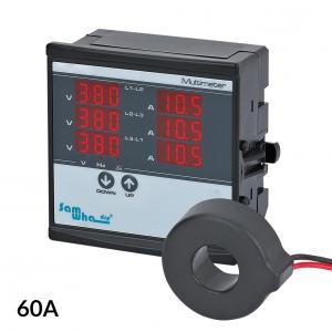 3-fázový panelový VA-metr 60A 1-500V