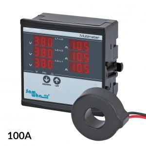 Panelový multimetr 3-fázový 100A 1-500V