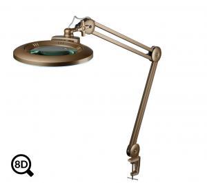 Zlatá stmívatelná LED lampa s lupou IB-150, průměr 150mm, 8D