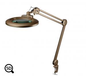 Zlatá stmívatelná LED lampa s lupou IB-150, průměr 150mm, 5D