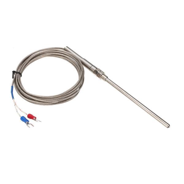 K-termočlánek 0~400℃ se závitem M8 a SS jímkou 100mm - délka kabelu 3m