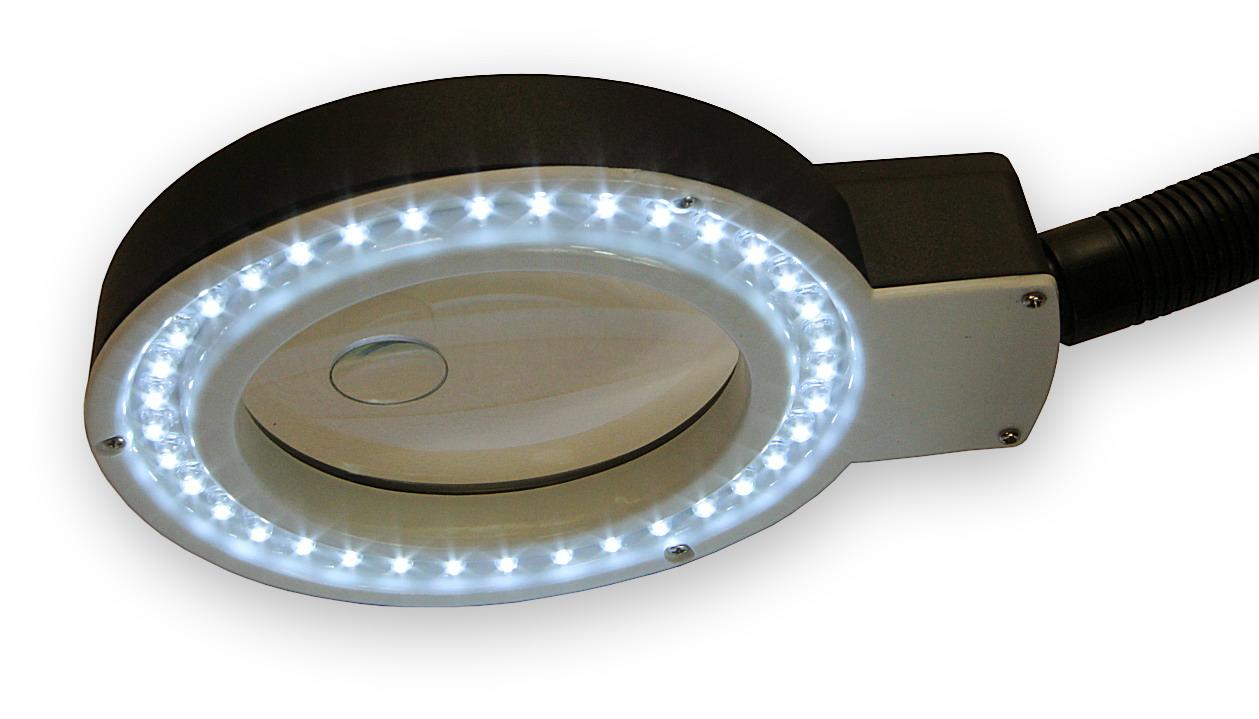 Stolní lampa s lupou a LED osvětlením typ 139