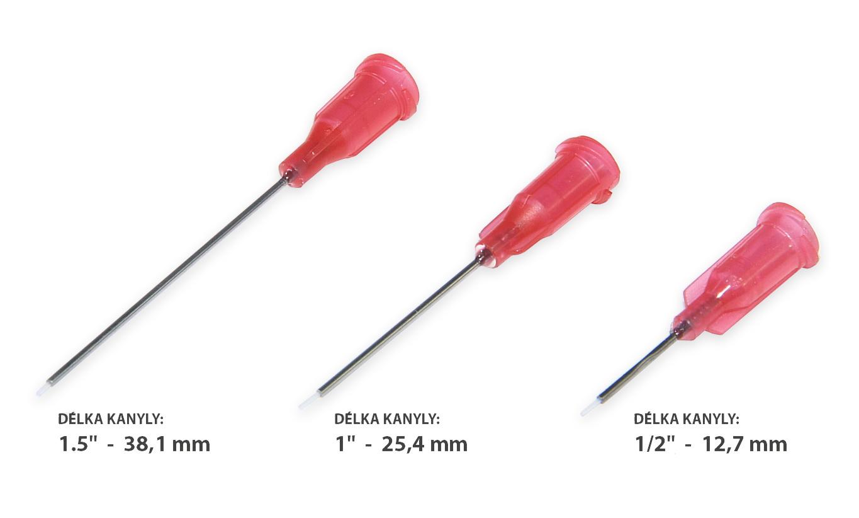 Nerezové dávkovací jehly s vloženou teflonovou trubičkou 21G 1ks