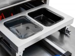 Poloautomatický balící stroj jednodílných jídelních misek 227x178mm s ochrannou atmosférou