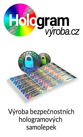 Výroba dekorativních i bezpečnostních hologramů, hologramových zabezpečovacích samolepek, holografických etiket a plomb. Tvorba hologramů dle zákaznické předlohy a prodej hotových předvyrobených skladových holografických samolepek a fólií. Velký výběr nálepek skladem.